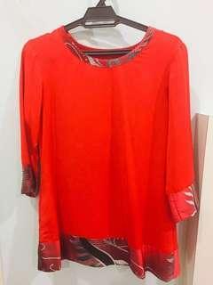 Brand new One set of Red Baju Batik kedah #NEW99