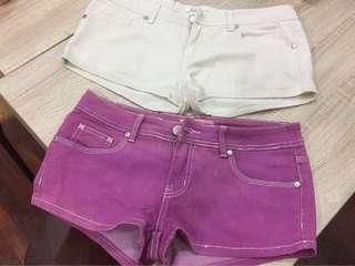 Kitschen purple and light beige Shorts #NEW99