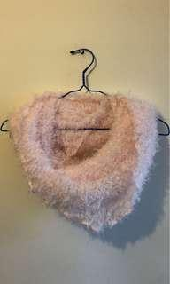 Fluffy soft pink scarf