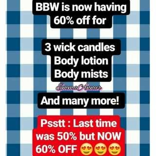Bath n Body works personal shopper