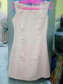 Preloved Dress Kerja Peach 25K