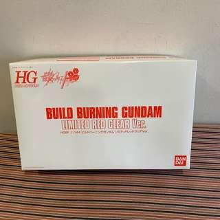 HG 1/144 Build Burning Gundam Limited Red Clear Ver.