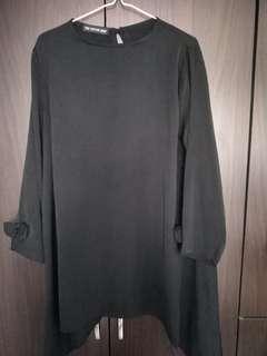 Satin Blouse (Black)
