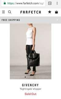Givenchy Nightingale Shopping