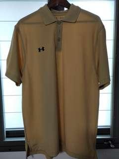 Authentic Under Armour Polo Shirt In Beige