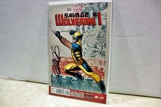 Signed Savage Wolverine #1 Marvel Comic