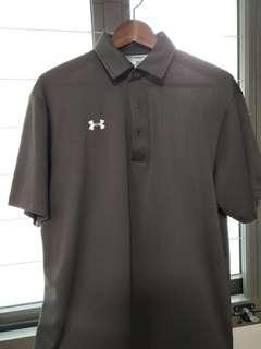 Authentic Under Armour Polo Shirt In Grey