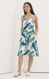 Lovengold Gelsey Botanical Midi Dress