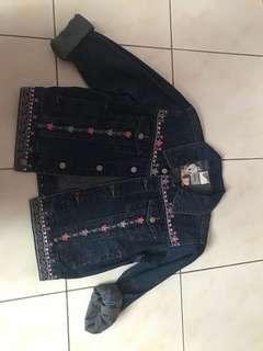 warner bros original tweety embroidery denim jacket jaket jeans