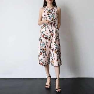 *CNY* Sera Floral Jumpsuit in SWEET PINK (2 weeks wait time)
