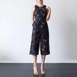 *CNY* Sera Floral Jumpsuit in BLACK (2 weeks wait time)