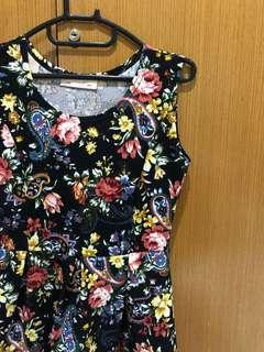 Dress flower zara pull and bear hnm