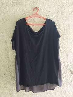 UNIQLO Black Sheer Back Top