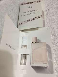 ($15包郵) Burberry Her Eau De parfum 1.5ml x1