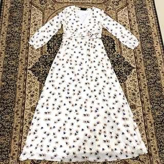 Long dress flower pattern