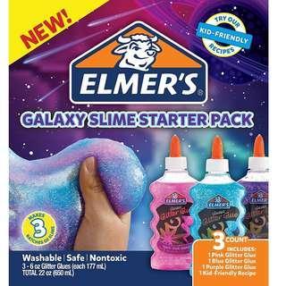 BNIB: Elmer's Glue Deluxe Slime Starter Kit, Clear School Glue & Glitter Glue Pens, 3 Count