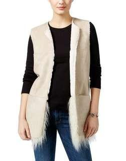 Guess reversible fur vest