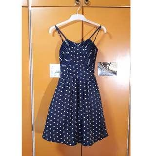 Navy and Brown Dress