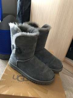 UGG Boots 灰色中筒毛毛靴