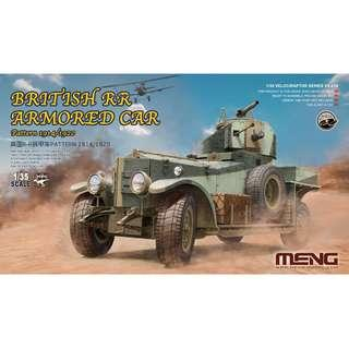 PO: MENG 1/35 British RR armoured car Pattern 1914/1920