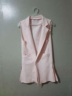 Light pink long vest