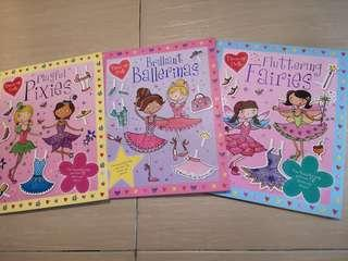 New Pressed out Dress up Doll ballerina pixies fairies story activity book for girls #NEW99
