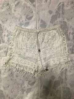 Crochet tassel shorts