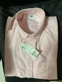 Men's Shirt Uniqlo UNIQLO Men's Shirt Pink Slim Fit