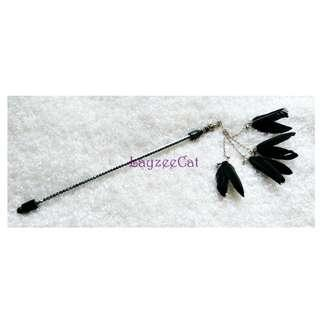 [Ready Stock] TW115 Colored Leaf-Shaped Feather Exclusive Handmade Cat Teaser