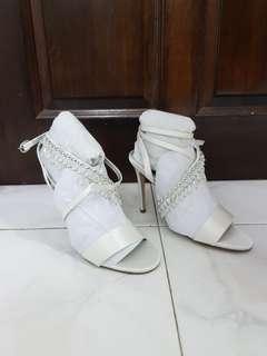 White Embellished Heels BRAND NEW