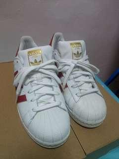 🚚 Adidas 愛迪達 金標貝殼鞋 紅白