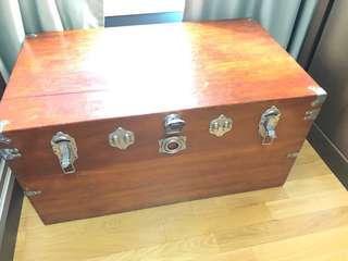 Antique wooden treasure chest