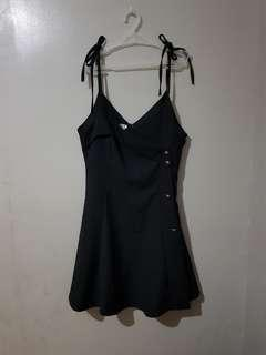 Black dress with side buttons