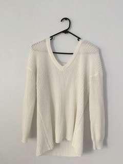 Knit low v jumper