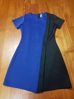 #idotrades blue and black overlap dress