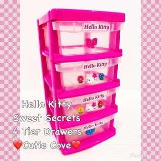 *IN STOCK IN SG* Hello Kitty Sweet Secrets 4 Tier Drawers