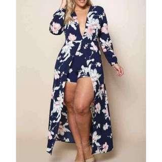 Plus Size Floral Dress