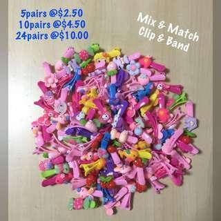 Mix & Match Children's hair clip / rubber band