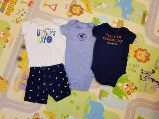 Baby Romper Baby boy Clothes Carters shirt bottom long sleeve long pants