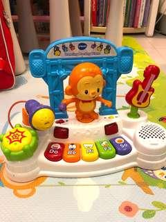 Vtech dancing monkey piano with microphone