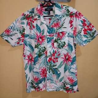 Forever21 Floral Polo