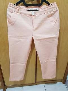 Preloved - 7/8 Pants - Peach