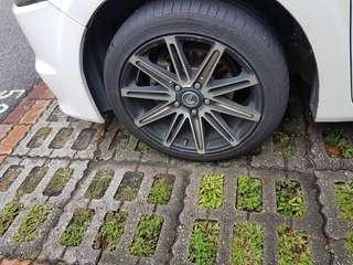 Tyres and rim