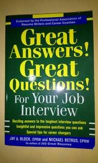 Great Answers! Great Questions! For your Job interview