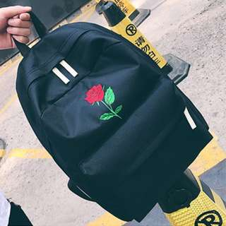 332bd44f9cf6  Pre-order  Women rose embroidery backpack