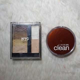 NYC Eyeshadow and Covergirl Powder