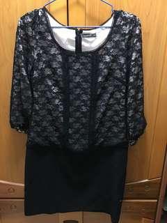 WILLSELECTION 黑色蕾絲洋裝