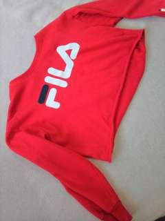 Fila crop sweater Medium