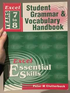 Excel grammar & vocaulary years 7 to 8