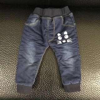 幼兒軟牛仔褲(厚款)(75公分以下適穿)